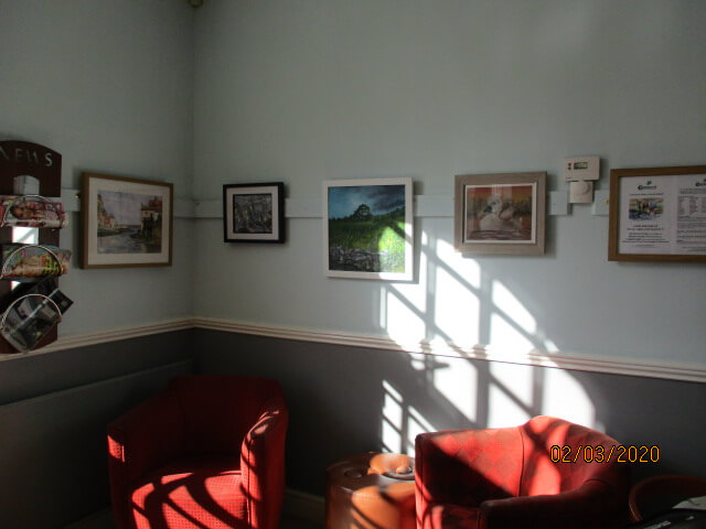 Charnwood Painting and Drawing Club exhibition at Queens park cafe